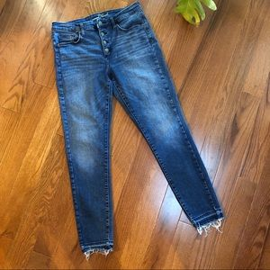 Universal Thread High-Rise Raw Hem Skinny Jean